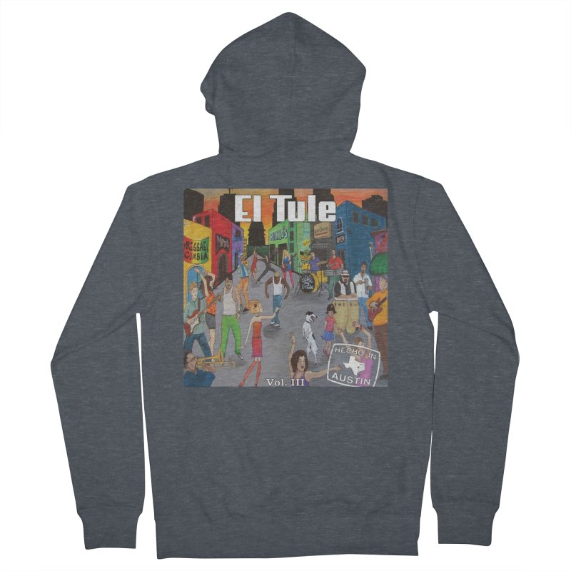 "El Tule ""Hecho In Austin Vol III"" Album Cover Women's French Terry Zip-Up Hoody by El Tule Store"