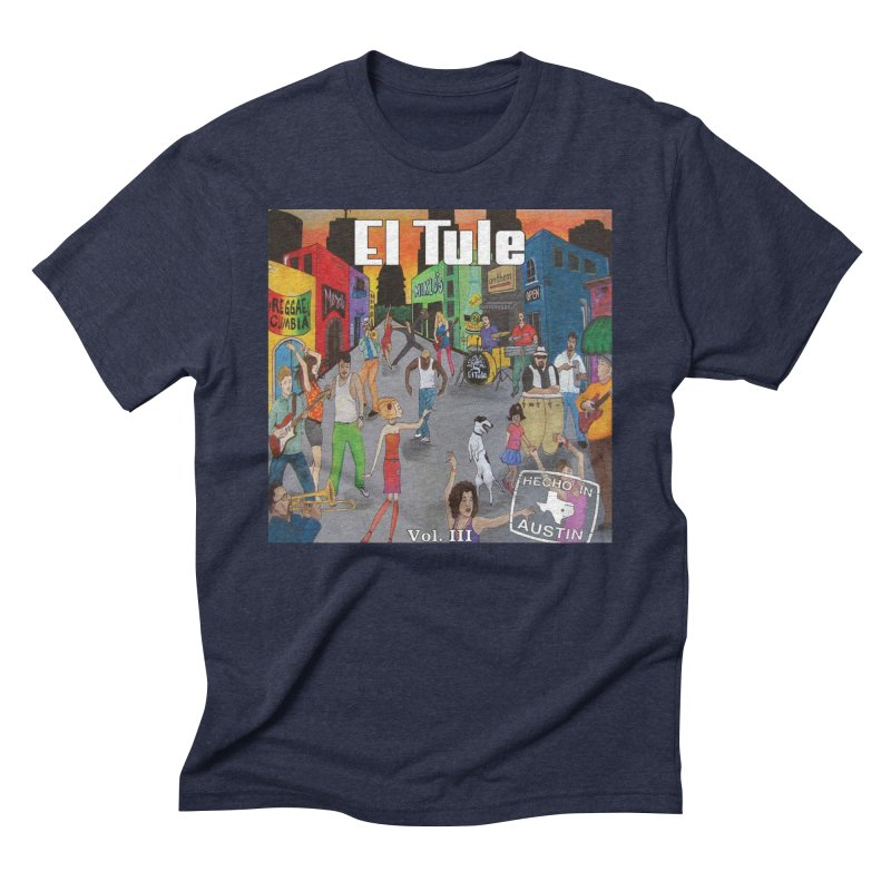 "El Tule ""Hecho In Austin Vol III"" Album Cover Men's Triblend T-Shirt by El Tule Store"