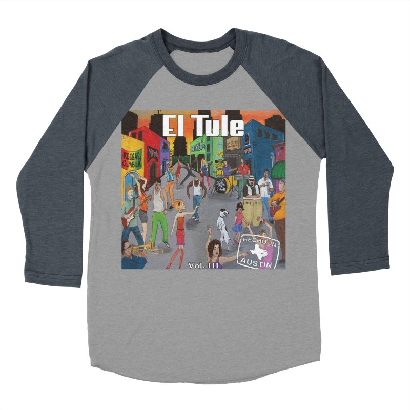 "El Tule ""Hecho In Austin Vol III"" Album Cover Men's Baseball Triblend Longsleeve T-Shirt by El Tule Store"