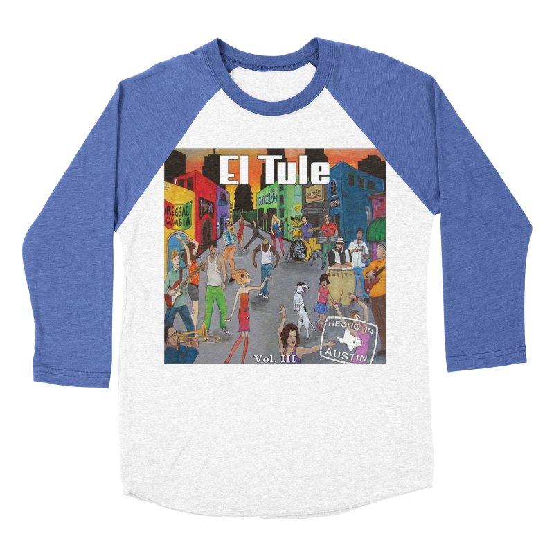 """El Tule """"Hecho In Austin Vol III"""" Album Cover Men's Baseball Triblend Longsleeve T-Shirt by El Tule Store"""