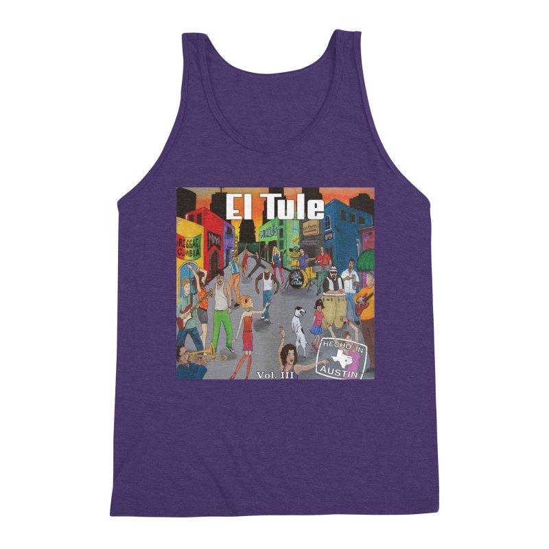 "El Tule ""Hecho In Austin Vol III"" Album Cover Men's Triblend Tank by El Tule Store"