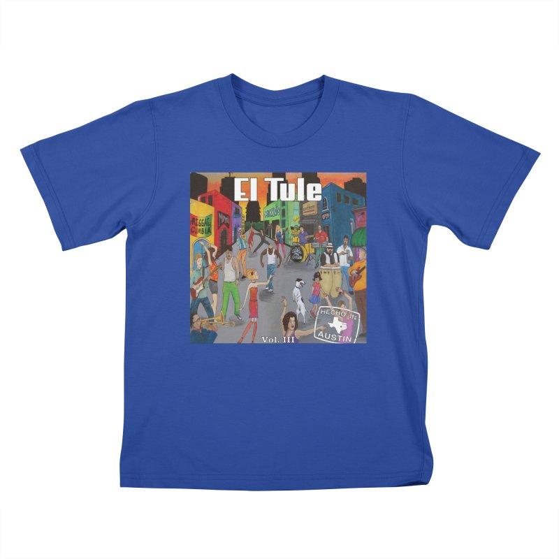 """El Tule """"Hecho In Austin Vol III"""" Album Cover Kids T-Shirt by El Tule Store"""