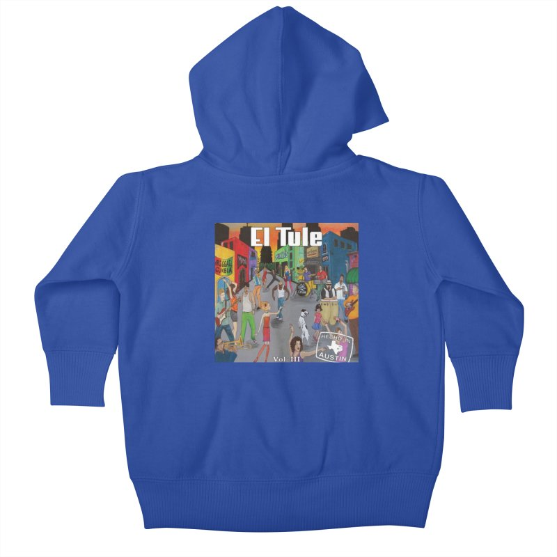 "El Tule ""Hecho In Austin Vol III"" Album Cover Kids Baby Zip-Up Hoody by El Tule Store"