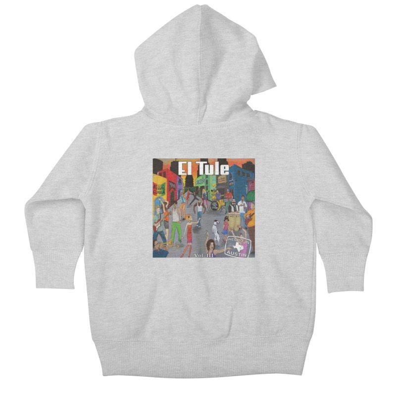 """El Tule """"Hecho In Austin Vol III"""" Album Cover Kids Baby Zip-Up Hoody by El Tule Store"""