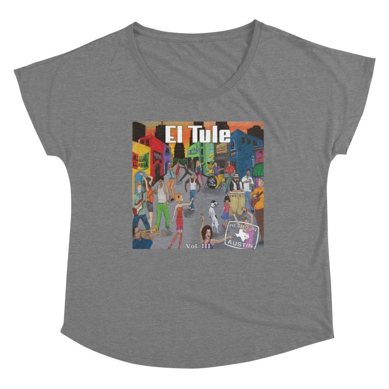 "El Tule ""Hecho In Austin Vol III"" Album Cover Women's Scoop Neck by El Tule Store"