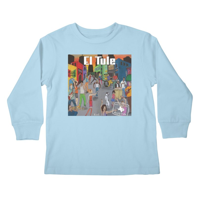 "El Tule ""Hecho In Austin Vol III"" Album Cover Kids Longsleeve T-Shirt by El Tule Store"
