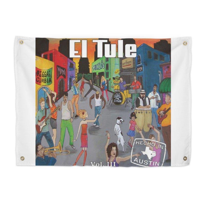 """El Tule """"Hecho In Austin Vol III"""" Album Cover Home Tapestry by El Tule Store"""