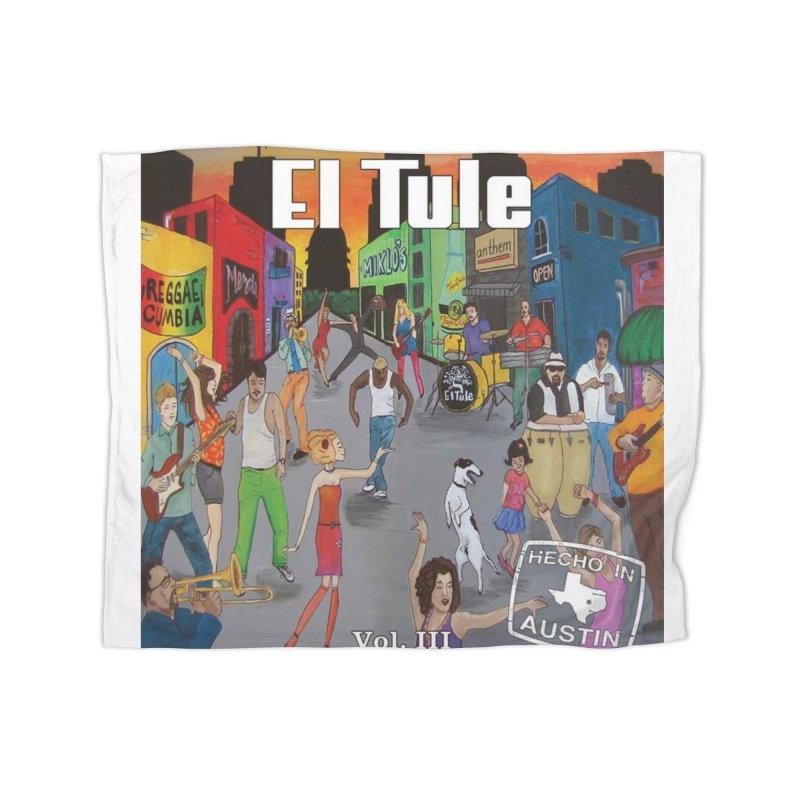 """El Tule """"Hecho In Austin Vol III"""" Album Cover Home Fleece Blanket Blanket by El Tule Store"""