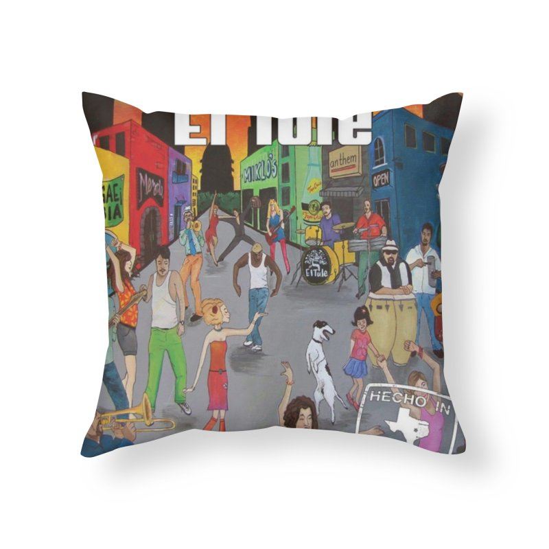 "El Tule ""Hecho In Austin Vol III"" Album Cover Home Throw Pillow by El Tule Store"