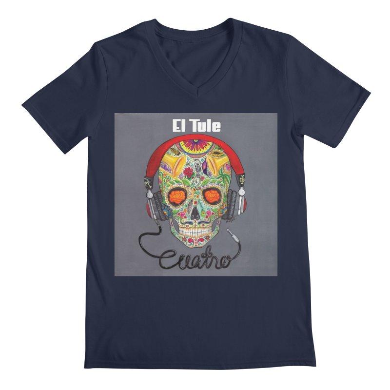 """El Tule """"Cuatro"""" Album Cover Men's Regular V-Neck by El Tule Store"""