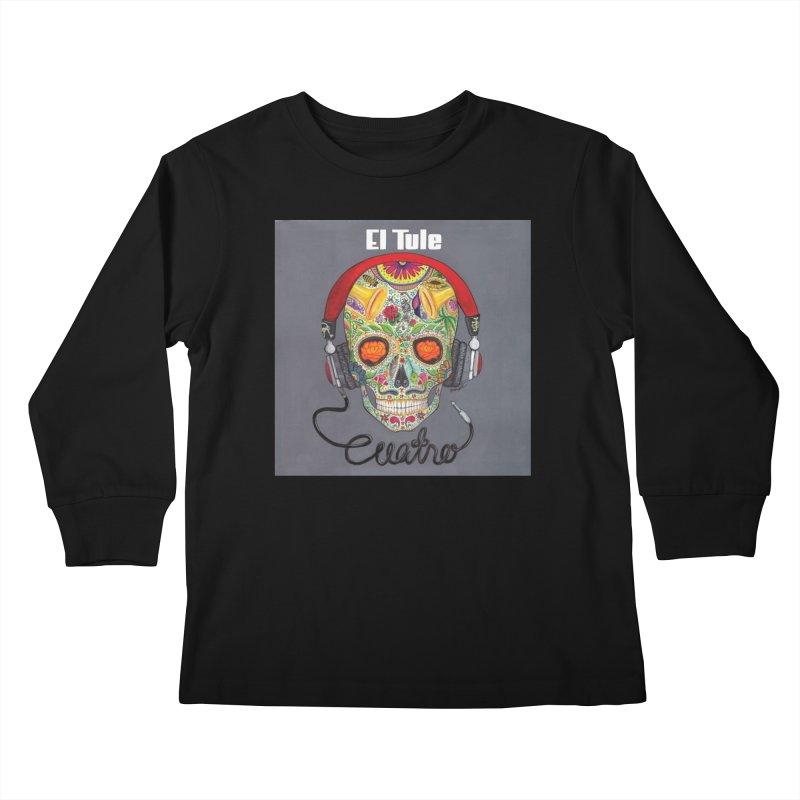 """El Tule """"Cuatro"""" Album Cover Kids Longsleeve T-Shirt by El Tule Store"""