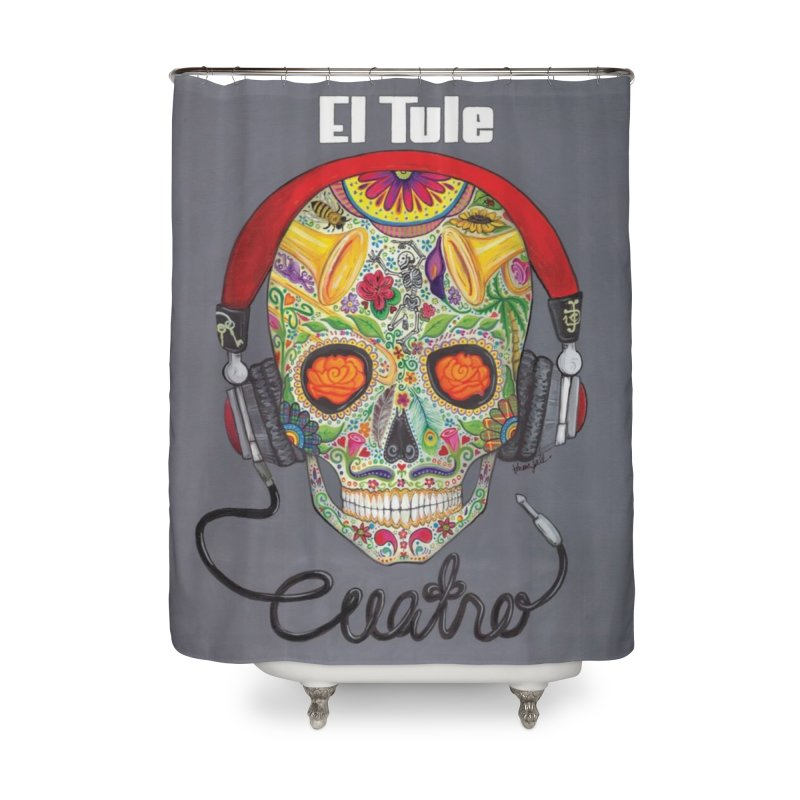 "El Tule ""Cuatro"" Album Cover Home Shower Curtain by El Tule Store"