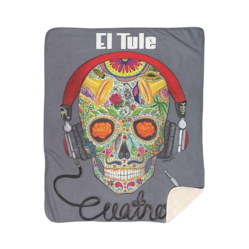 "El Tule ""Cuatro"" Album Cover Home Sherpa Blanket Blanket by El Tule Store"