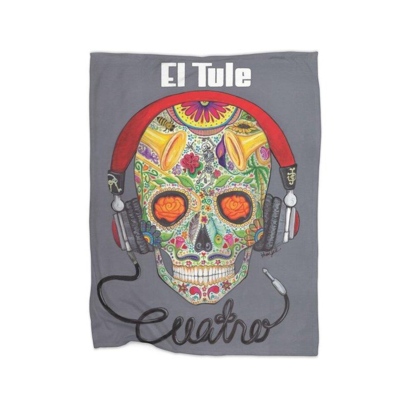 """El Tule """"Cuatro"""" Album Cover Home Fleece Blanket Blanket by El Tule Store"""