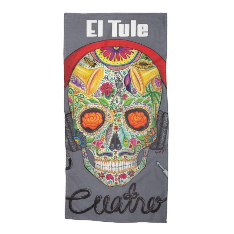 """El Tule """"Cuatro"""" Album Cover Accessories Beach Towel by El Tule Store"""