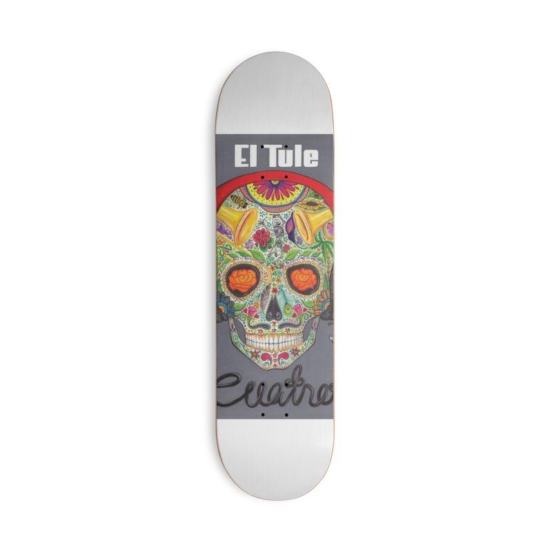 """El Tule """"Cuatro"""" Album Cover Accessories Deck Only Skateboard by El Tule Store"""