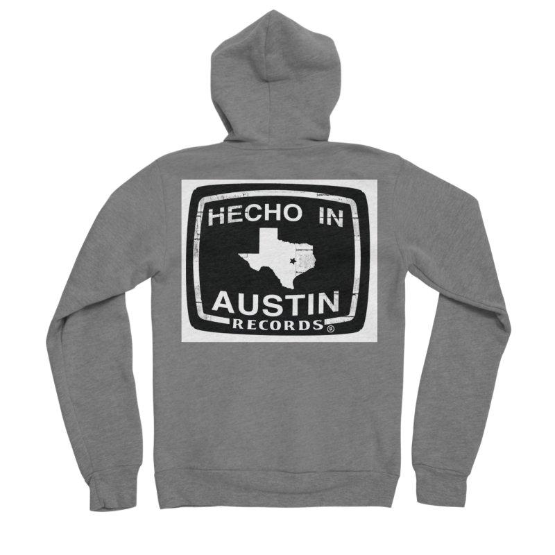 Hecho In Austin Men's Sponge Fleece Zip-Up Hoody by El Tule Store
