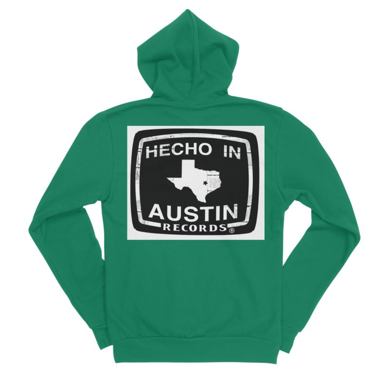 Hecho In Austin Women's Sponge Fleece Zip-Up Hoody by El Tule Store