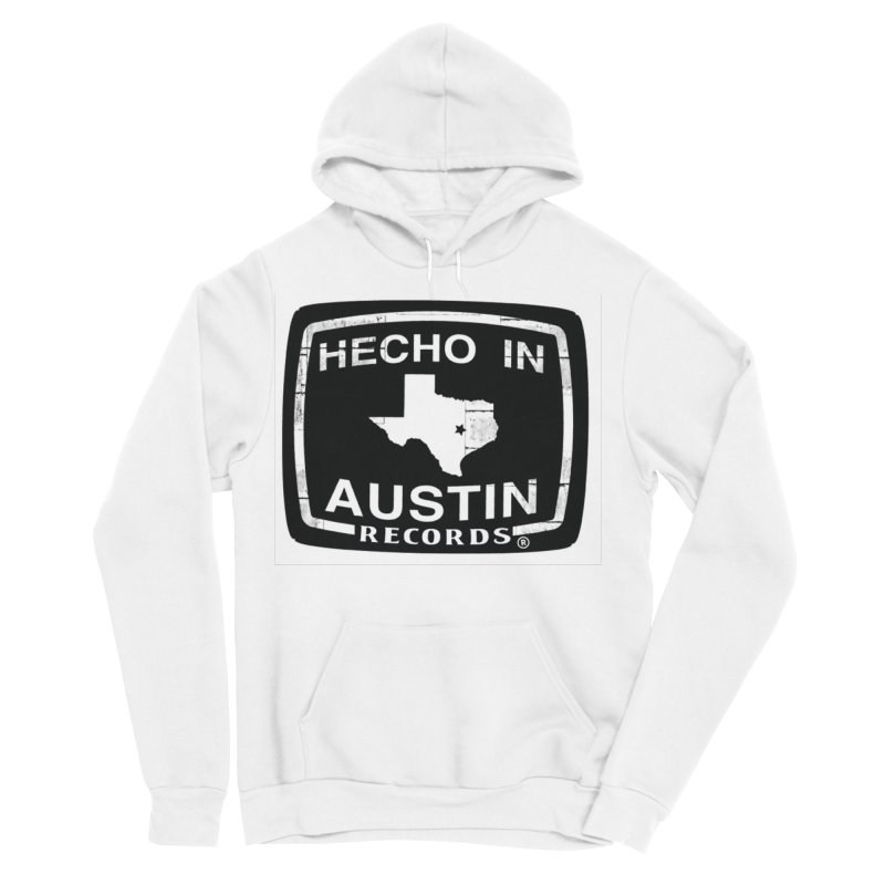 Hecho In Austin Men's Sponge Fleece Pullover Hoody by El Tule Store