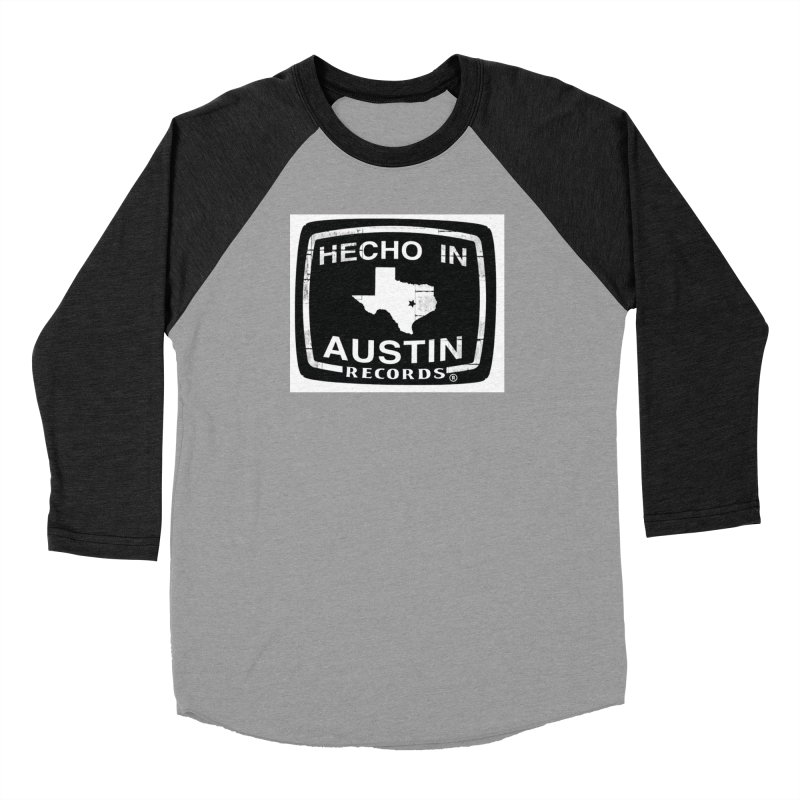 Hecho In Austin Men's Baseball Triblend Longsleeve T-Shirt by El Tule Store