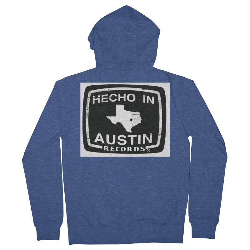 Hecho In Austin Men's French Terry Zip-Up Hoody by El Tule Store