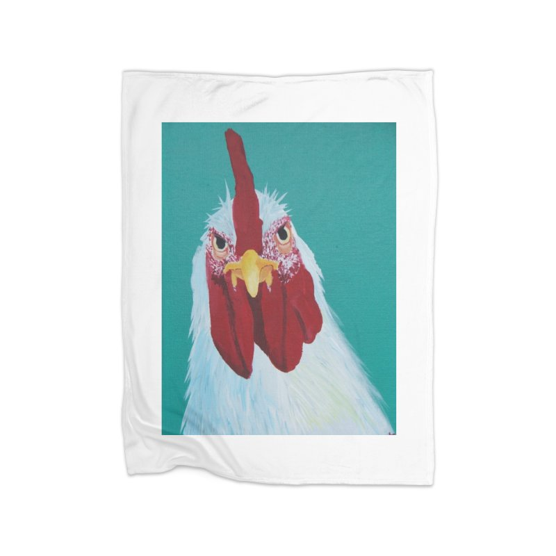 El Tule Gallo Home Fleece Blanket Blanket by El Tule Store