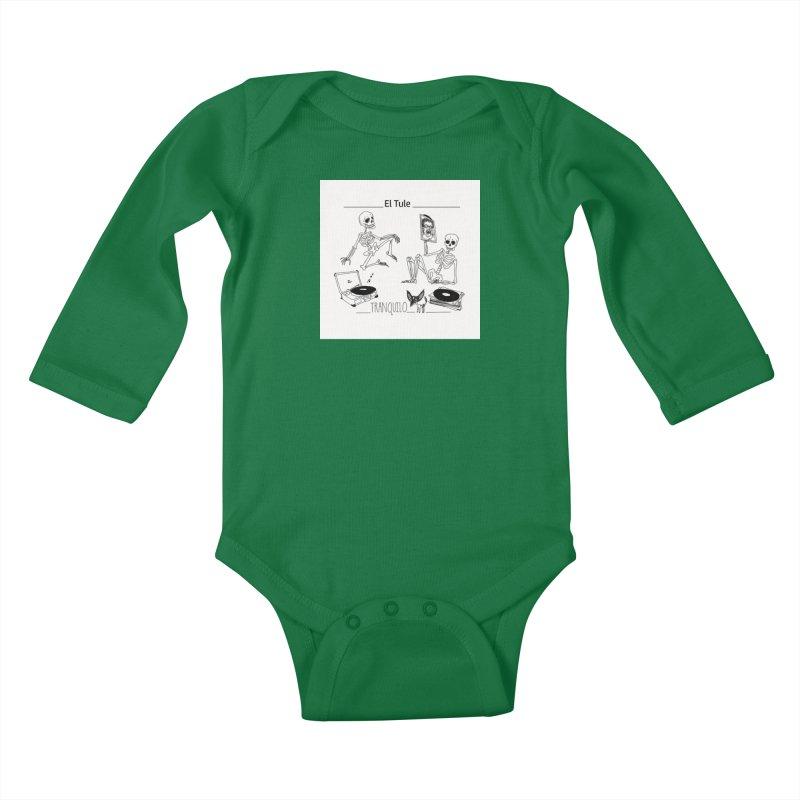 """""""Tranquilo"""" 7"""" Vinyl cover Kids Baby Longsleeve Bodysuit by El Tule Store"""