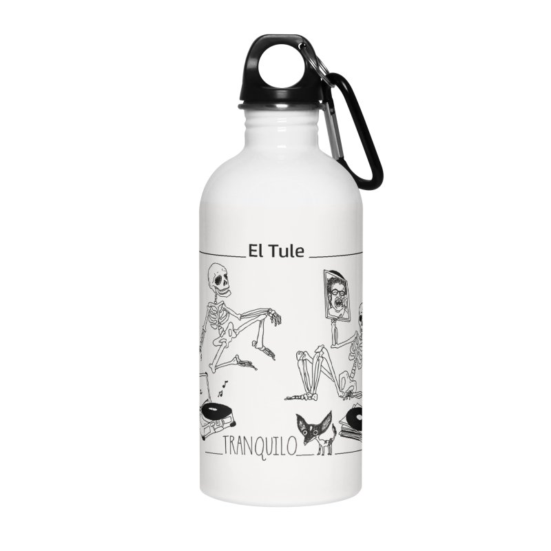 """Tranquilo"" 7"" Vinyl cover Accessories Water Bottle by El Tule Store"