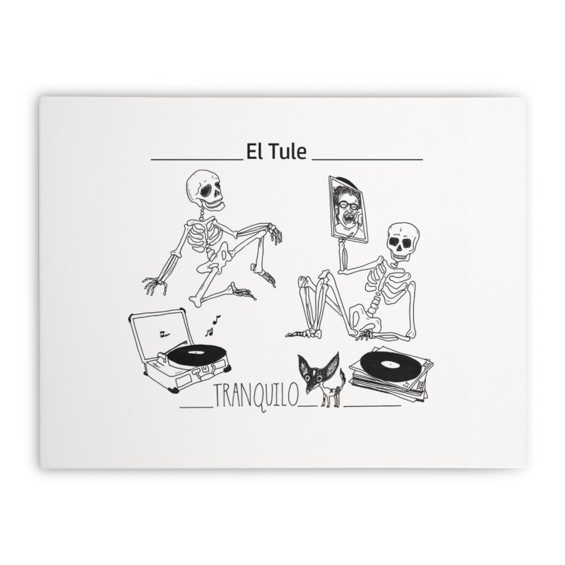 """Tranquilo"" 7"" Vinyl cover Home Stretched Canvas by El Tule Store"