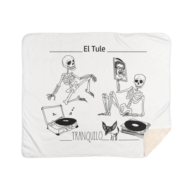 """""""Tranquilo"""" 7"""" Vinyl cover Home Sherpa Blanket Blanket by El Tule Store"""