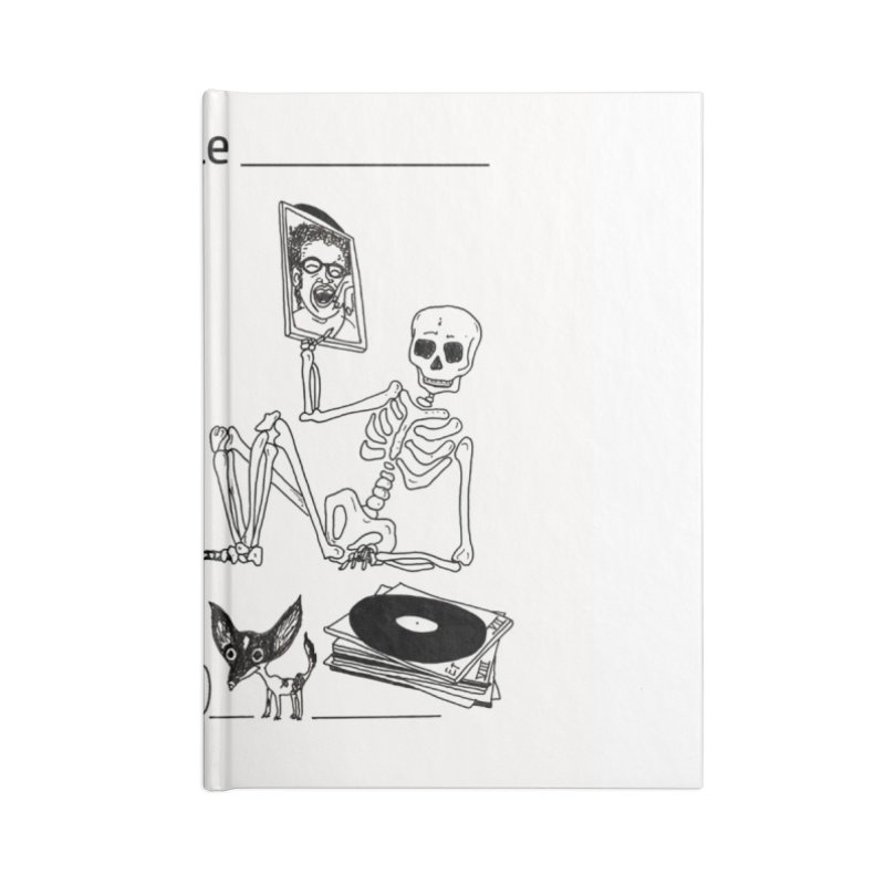 """Tranquilo"" 7"" Vinyl cover Accessories Lined Journal Notebook by El Tule Store"