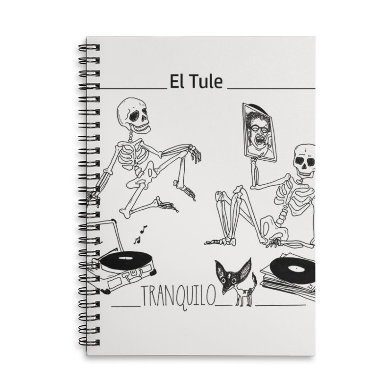 """""""Tranquilo"""" 7"""" Vinyl cover Accessories Lined Spiral Notebook by El Tule Store"""
