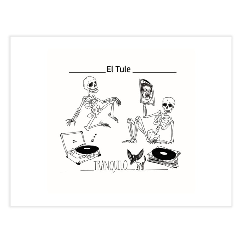 """Tranquilo"" 7"" Vinyl cover Home Fine Art Print by El Tule Store"