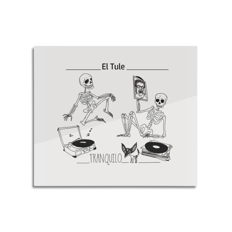"""Tranquilo"" 7"" Vinyl cover Home Mounted Aluminum Print by El Tule Store"