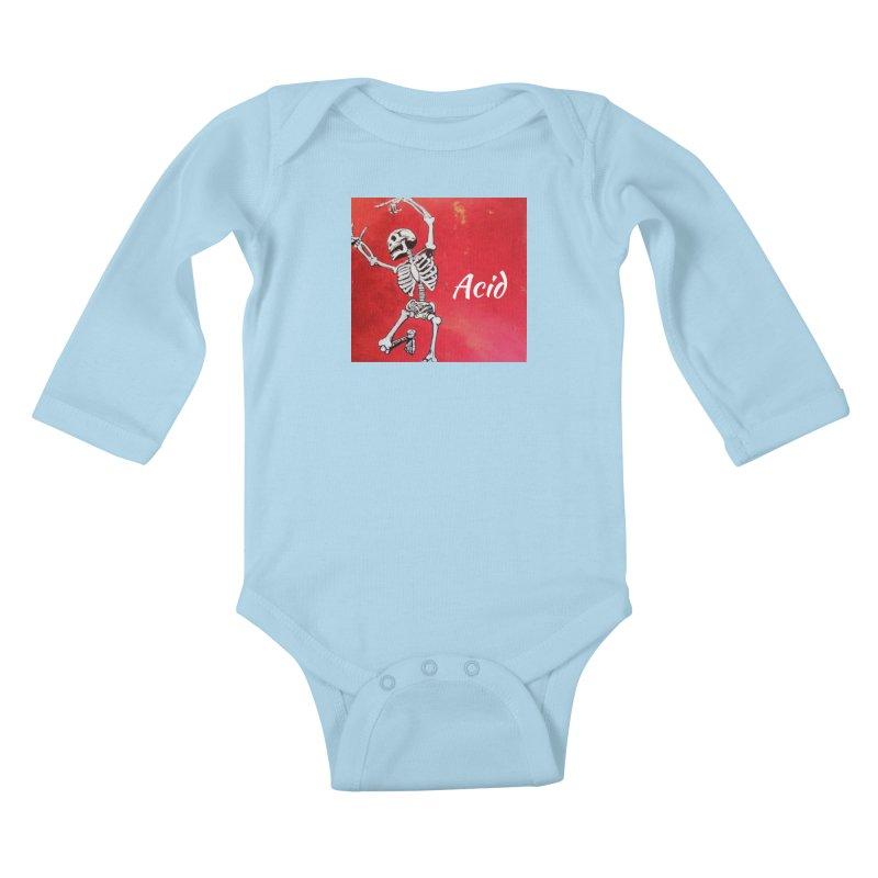 7 inch Vinyl B-side Kids Baby Longsleeve Bodysuit by El Tule Store