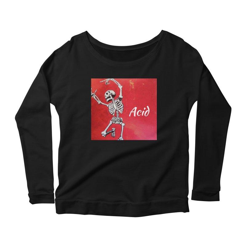 7 inch Vinyl B-side Women's Scoop Neck Longsleeve T-Shirt by El Tule Store