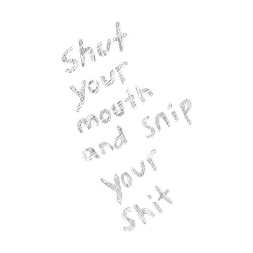 Design for FUNDRAISER Shut it (white text)