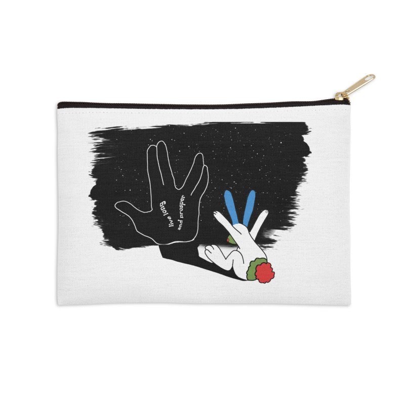 Live Long And Prosper Accessories Zip Pouch by Ellarte Artist Shop