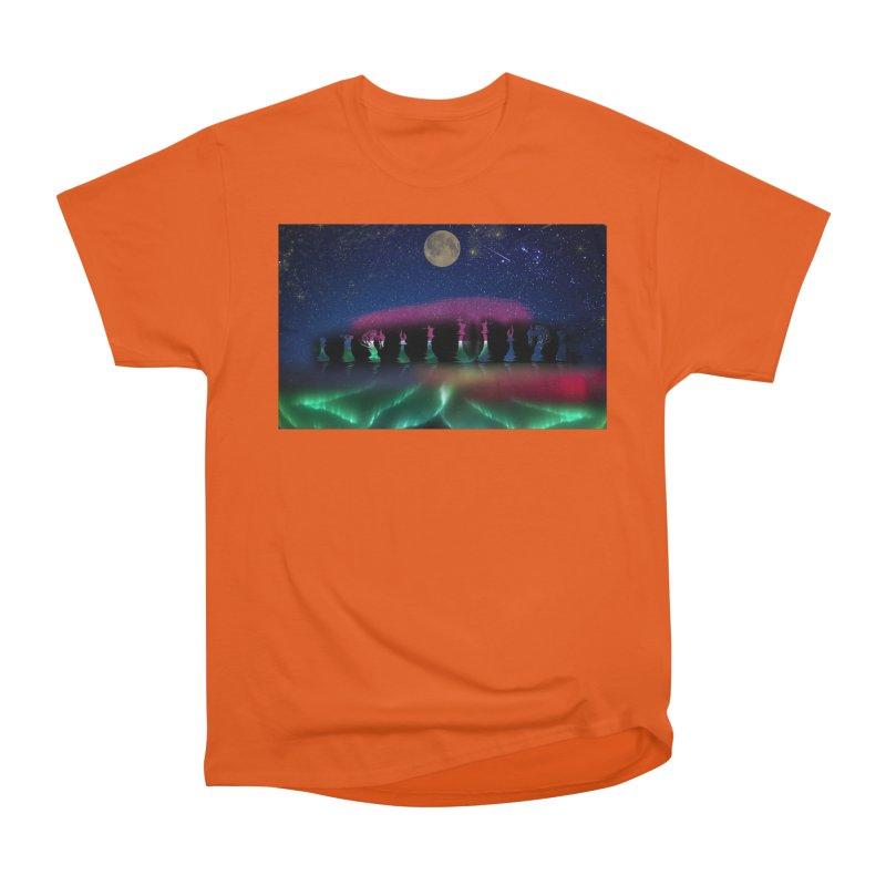 Dancing Aurora Women's Classic Unisex T-Shirt by Ellarte Artist Shop