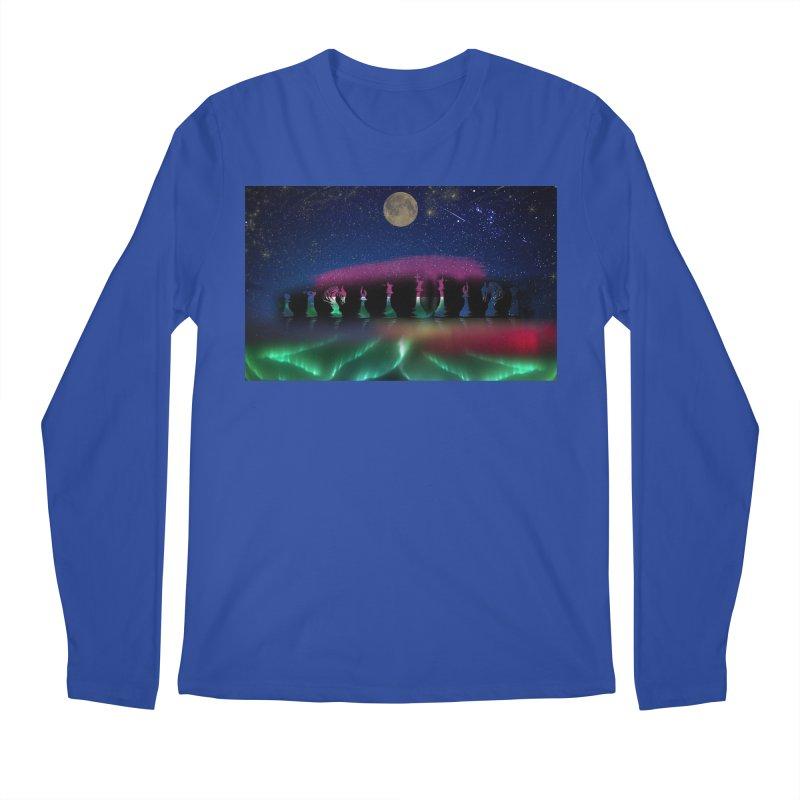 Dancing Aurora Men's Longsleeve T-Shirt by Ellarte Artist Shop