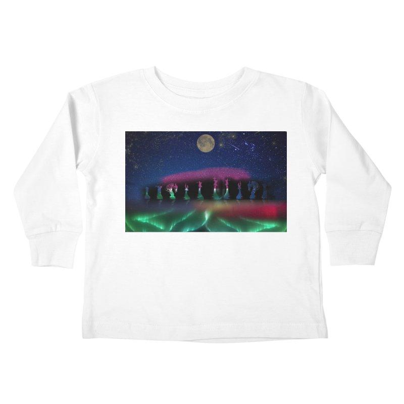 Dancing Aurora Kids Toddler Longsleeve T-Shirt by Ellarte Artist Shop