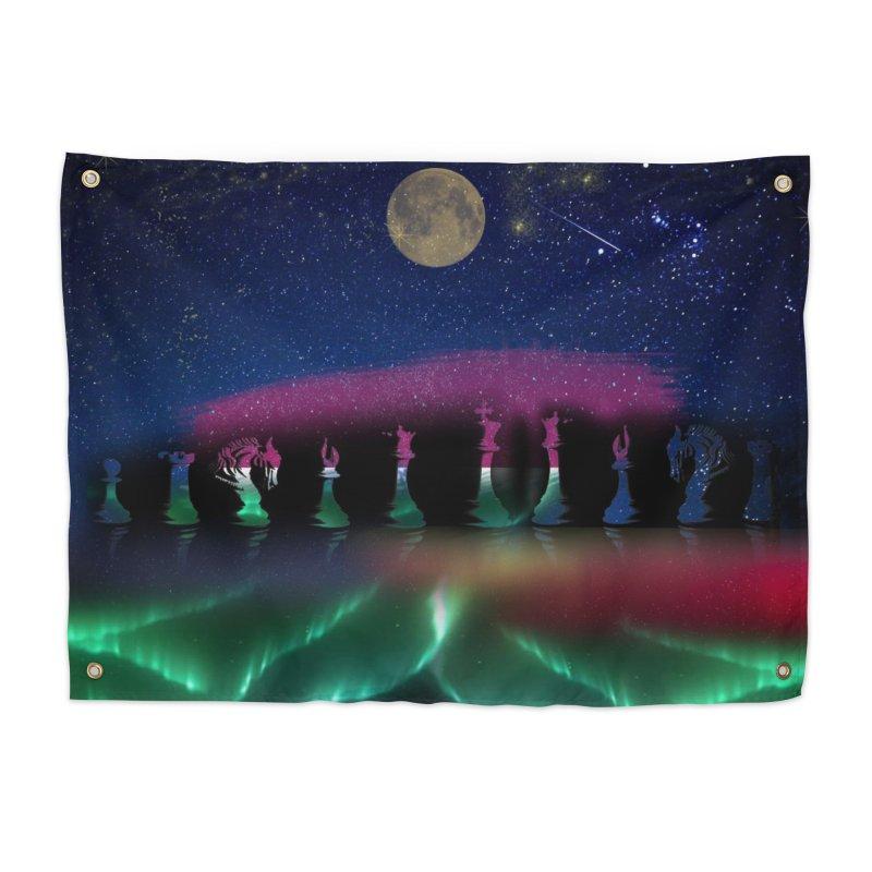 Dancing Aurora Home Tapestry by Ellarte Artist Shop