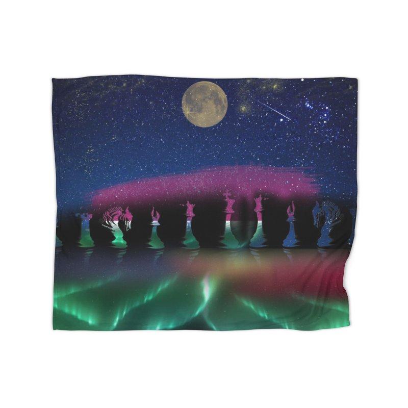 Dancing Aurora Home Blanket by Ellarte Artist Shop