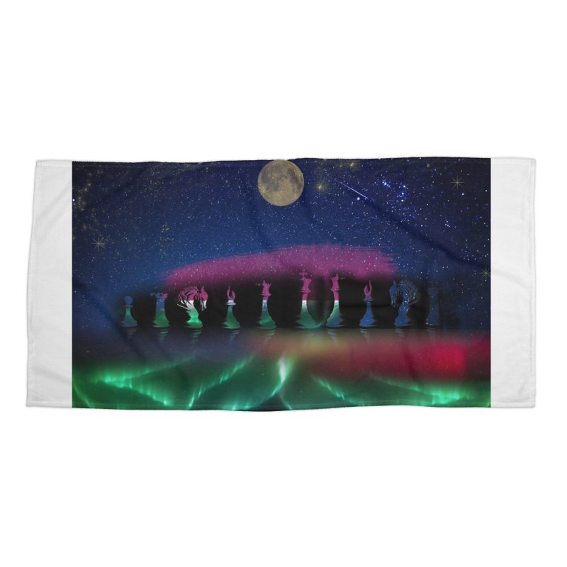 Dancing Aurora Accessories Beach Towel by Ellarte Artist Shop