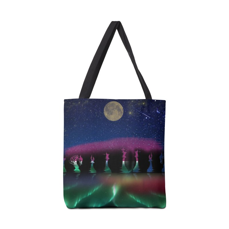Dancing Aurora Accessories Bag by Ellarte Artist Shop