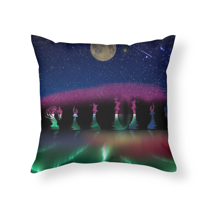 Dancing Aurora Home Throw Pillow by Ellarte Artist Shop