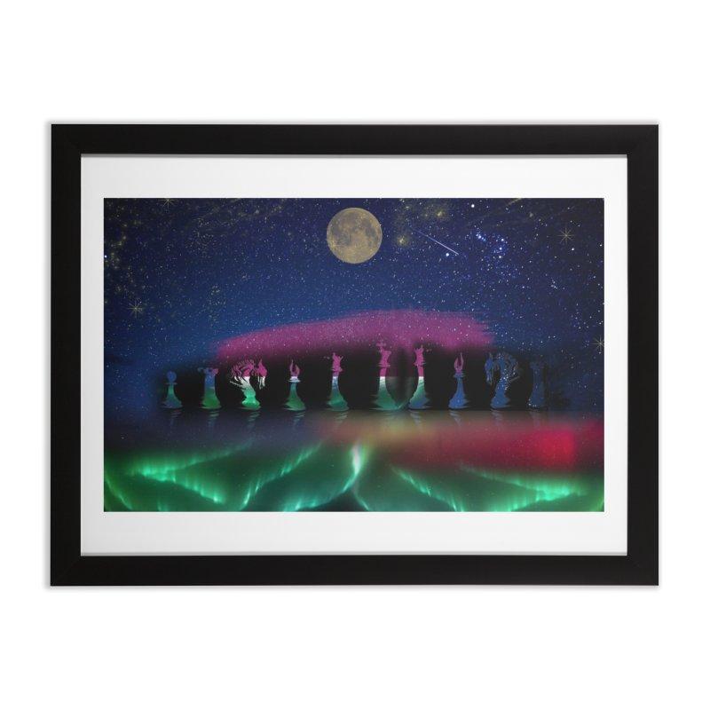 Dancing Aurora Home Framed Fine Art Print by Ellarte Artist Shop
