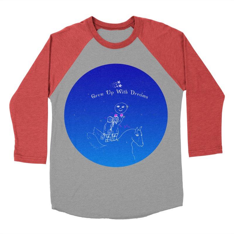 Grow Up With Dreams Men's Baseball Triblend T-Shirt by Ellarte Artist Shop