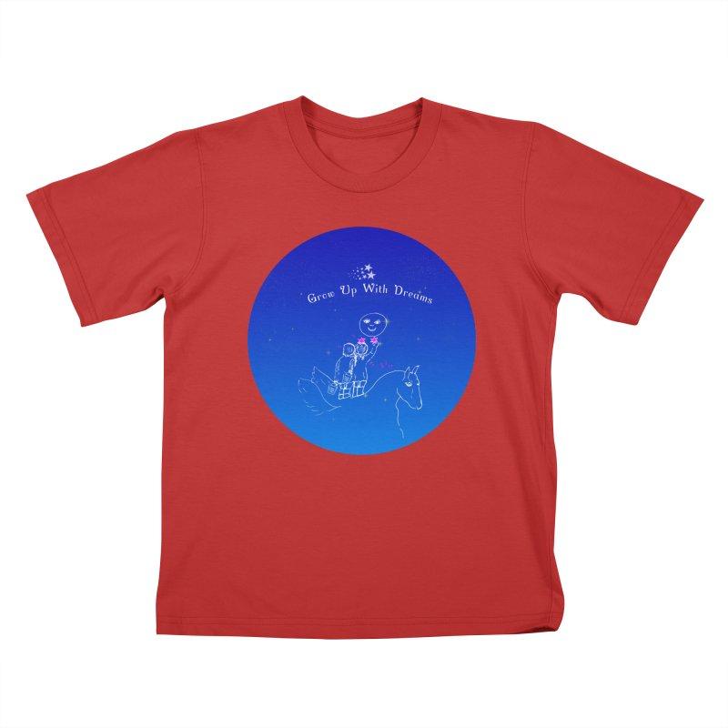 Grow Up With Dreams Kids T-shirt by Ellarte Artist Shop