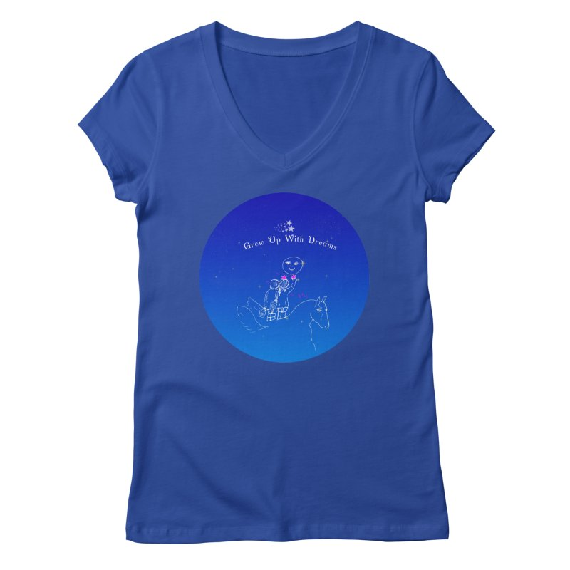 Grow Up With Dreams Women's V-Neck by Ellarte Artist Shop